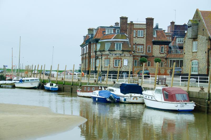 Popular tourist village of Blakeney. Picture of the popular tourist destination of the coastal village Blakeney on the north Norfolk coast. It is a picturesque stock photography