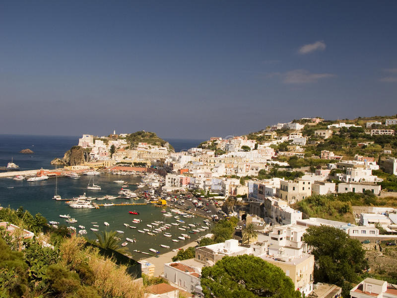 Picture Postcard from Ponza stock images