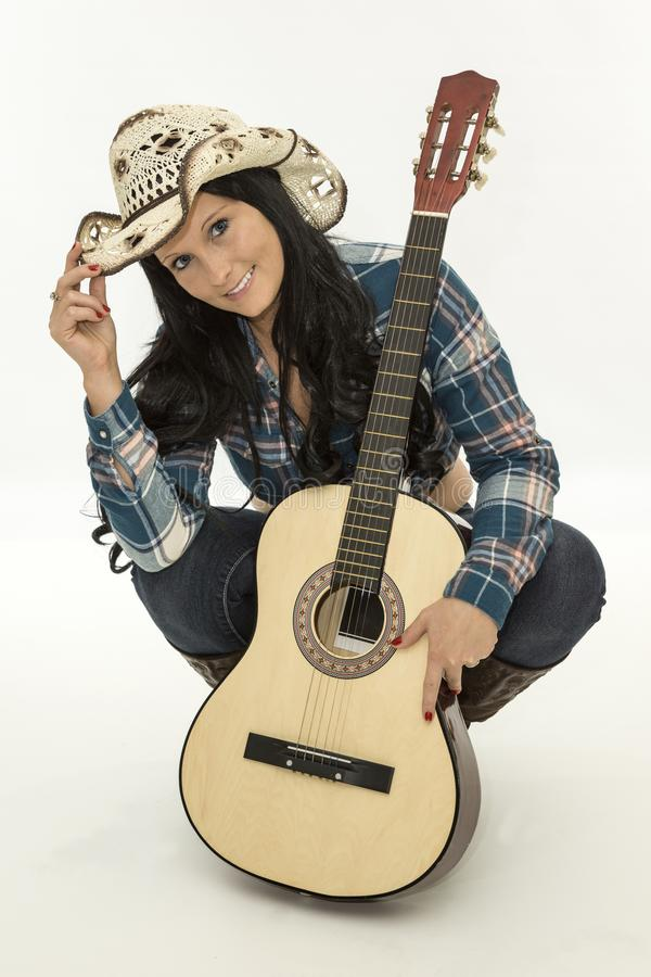 Cowgirl guitar. music, stock photos