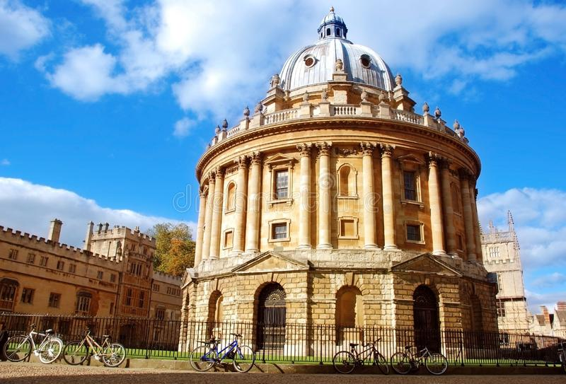 Picture of the radcliffe camera, oxford, united kingdom. On a cloudy day stock images