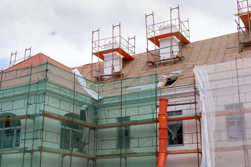 Building renovation stock image