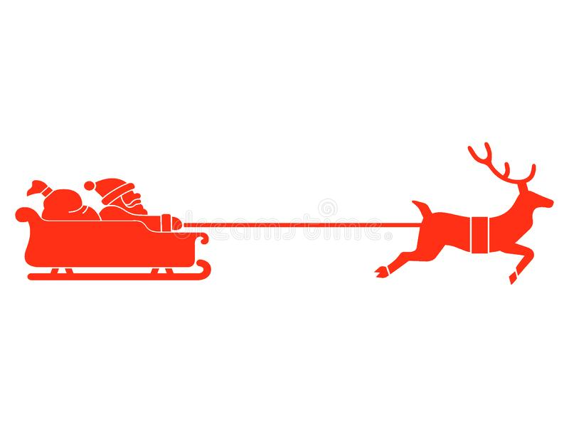 Picture of a Santa Claus Sleighs. Vector illustration of the Picture of a Santa Claus Sleighs royalty free illustration