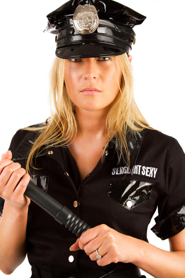 Picture of serious policewoman