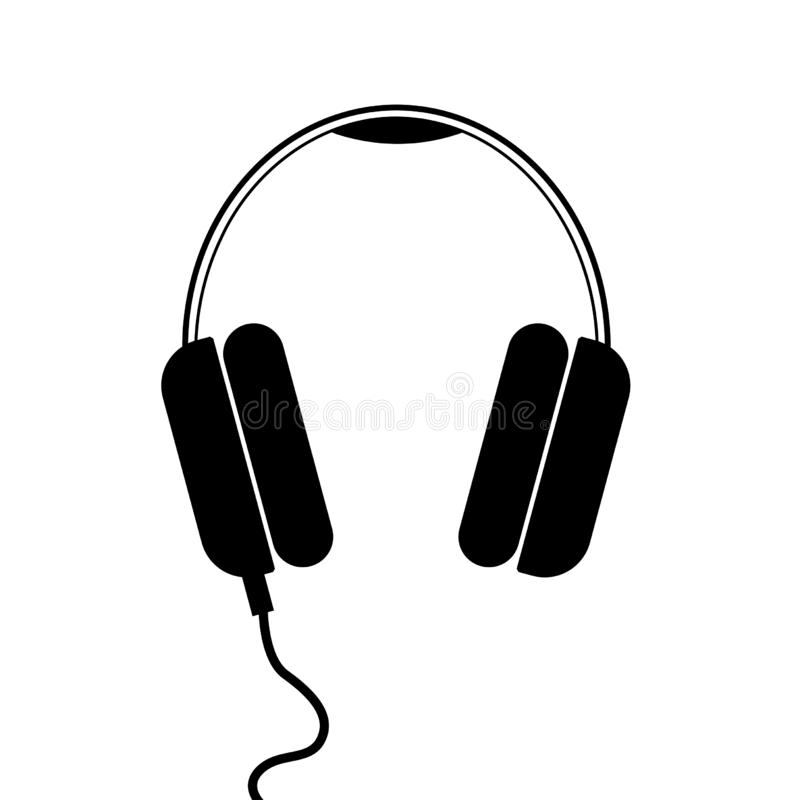 Flat modern headphones icon royalty free stock images