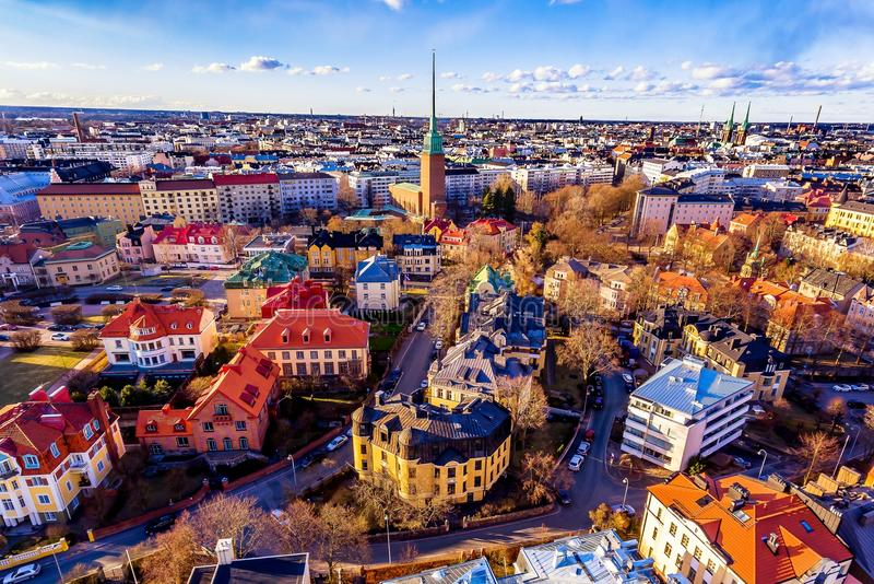 Aerial view of Helsinki royalty free stock images