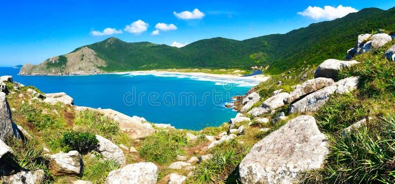 Lagoinha do leste beach in Santa Catarina, Brazil royalty free stock images