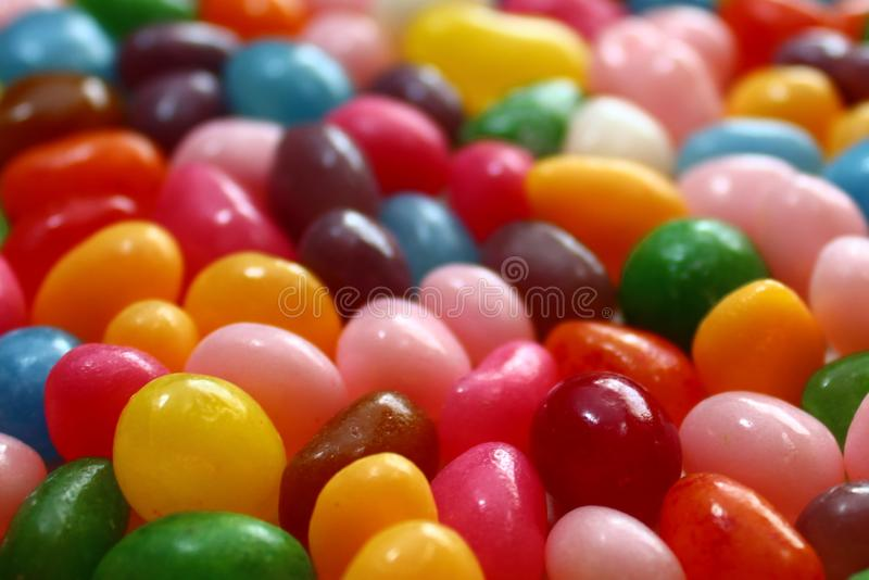 Delicious colorful sweets. The picture shows many delicious colorful sweets stock images
