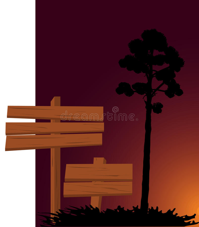 Download Picture With Signs And Tree Stock Vector - Illustration of dirty, element: 11769829