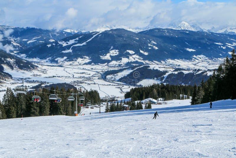 ski resort in the austrian Alps stock image