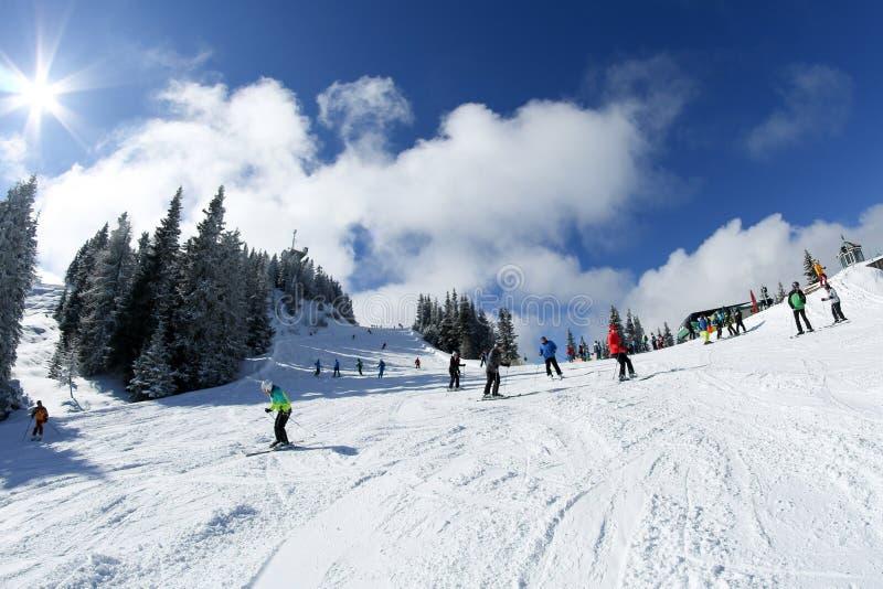 Ski resort in the austrian Alps stock photo
