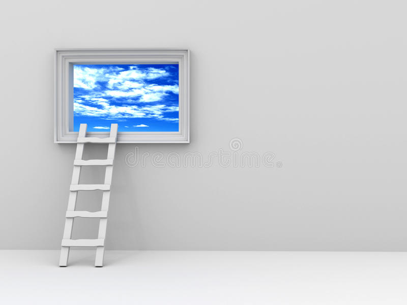 Download Picture with the sky stock illustration. Illustration of ladder - 12671009