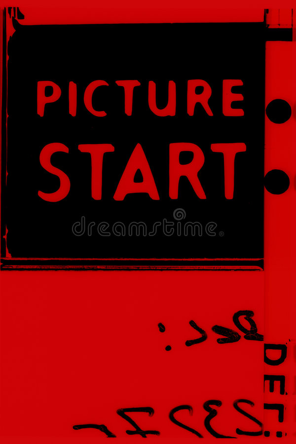 Picture start stock image