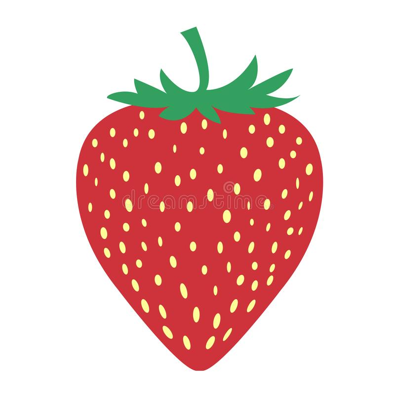 The picture of strawberry fruit is very simple. Drawing strawberry fruit with soft color style and uncomplicated design make this picture nice at see royalty free illustration