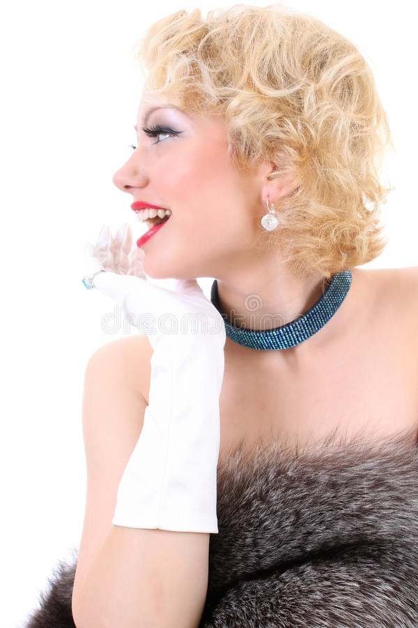 Download Picture Of Surprised Woman With Fur Stock Photo - Image of beauty, attractive: 14907176