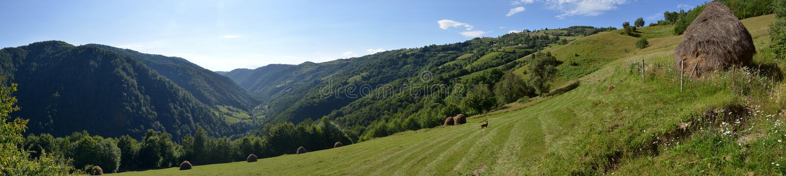 Landscape with the Maguri-Racatau valley, Romania. royalty free stock image