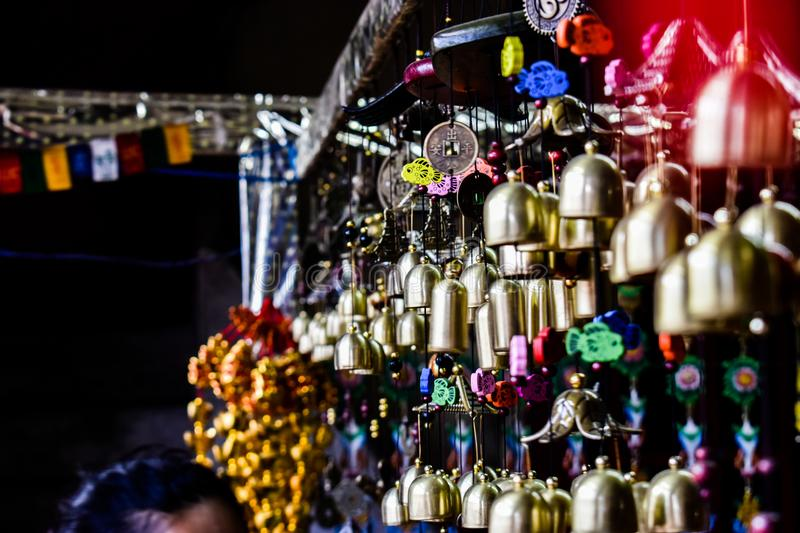 Handicrafts Hanging In A Monastery royalty free stock photo