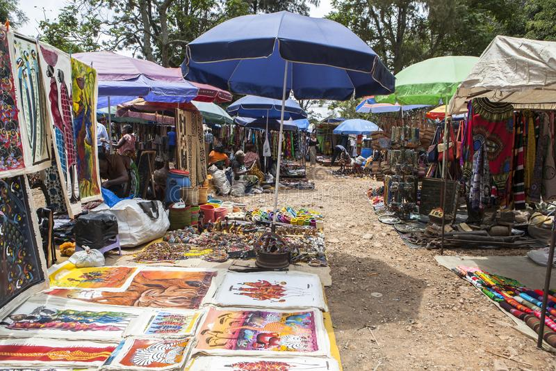 Souvenir market in Nairobi Capital, Kenya stock images