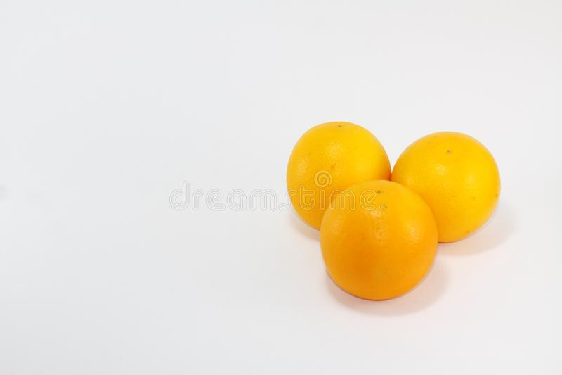 Picture of Three mandarin oranges royalty free stock images