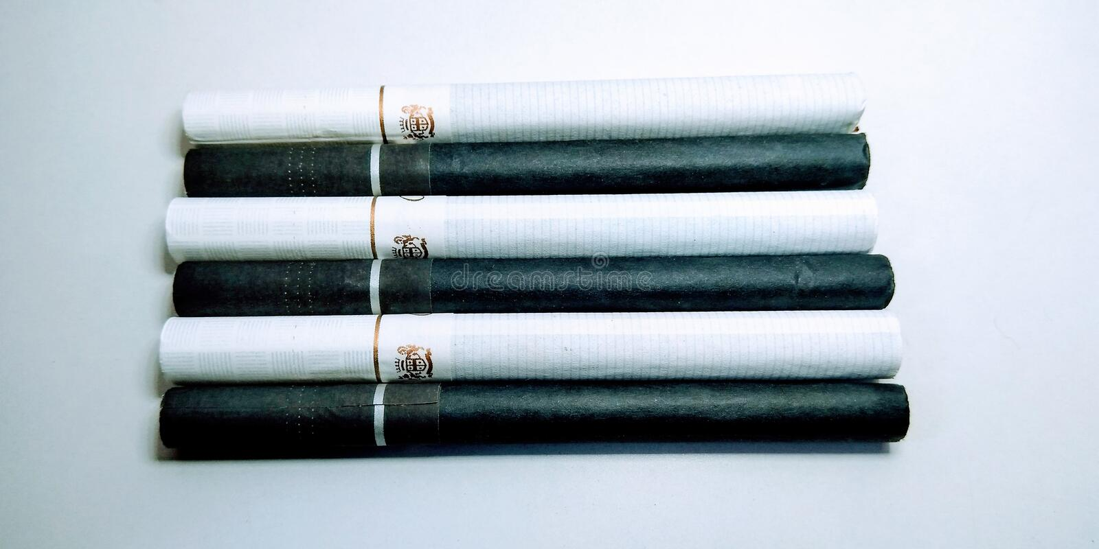 A picture of tobacco cigarettes  on white background  , stock images