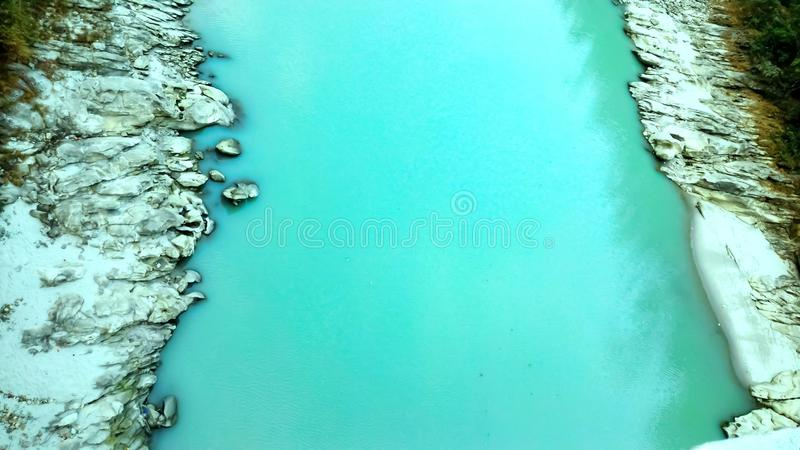 Top view of river flowing, Siliguri tourism, Indian city tour. This is a picture of the top view of river flowing, Siliguri tourism, Indian city tour. In which stock image