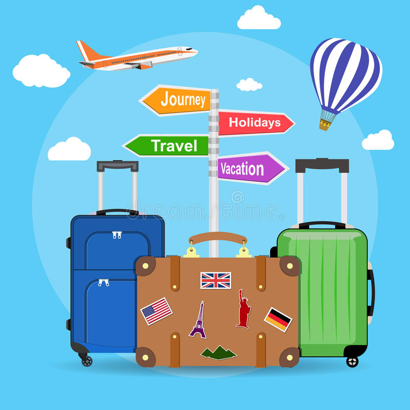 Picture of travel bags vector illustration