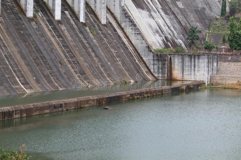 Upper Kolab Down Close View. Picture of Upper kolab dam with close view .of down where water fallen stock photo
