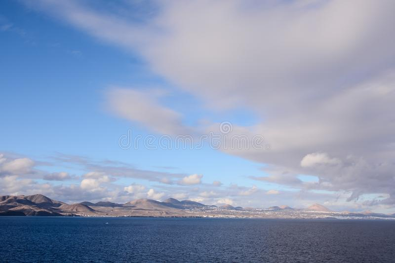 Picture View Landscape. Picture View of La Gomera in the Canary Islands royalty free stock photo