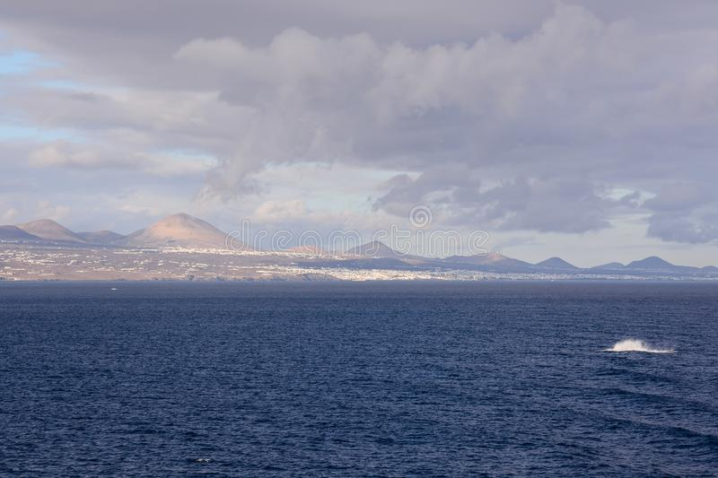 Picture View Landscape. Picture View of La Gomera in the Canary Islands royalty free stock image