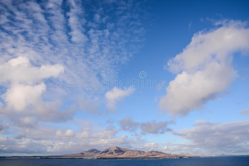 Picture View Landscape. Picture View of La Gomera in the Canary Islands stock photo