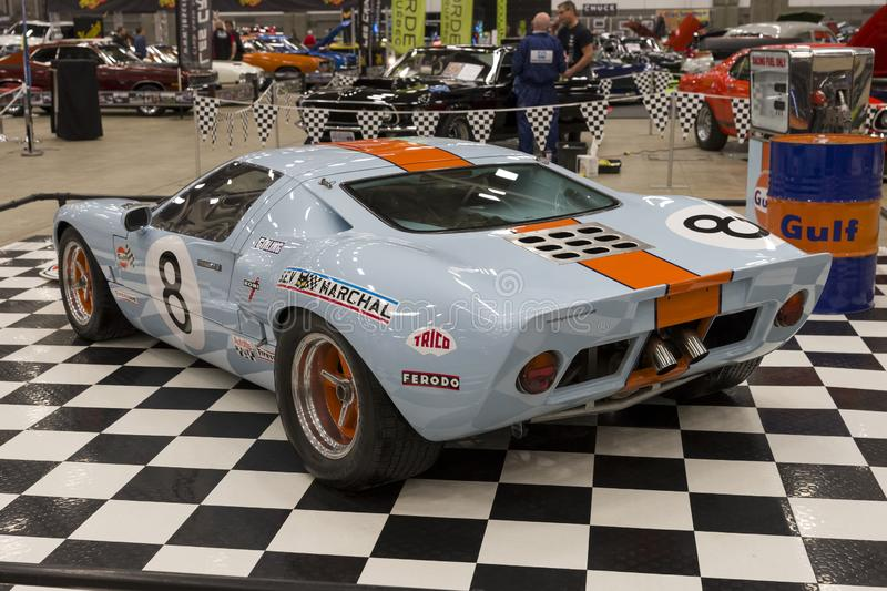 Ford gt40 rear side view royalty free stock images