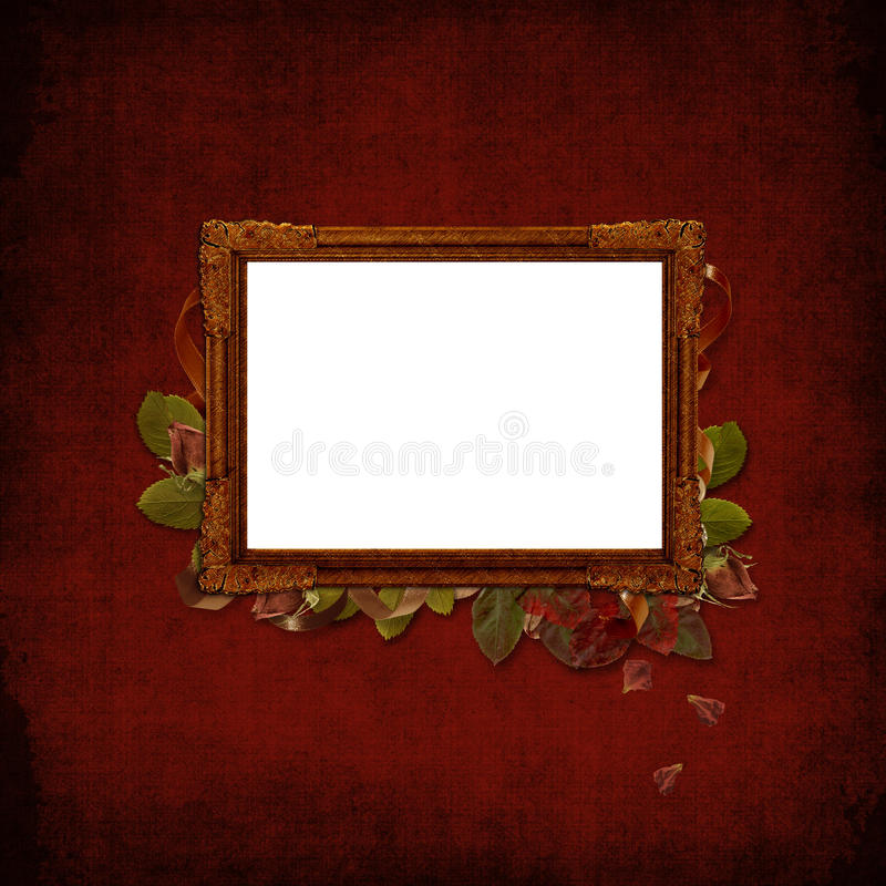 Picture vintage frame on a grunge background royalty free illustration