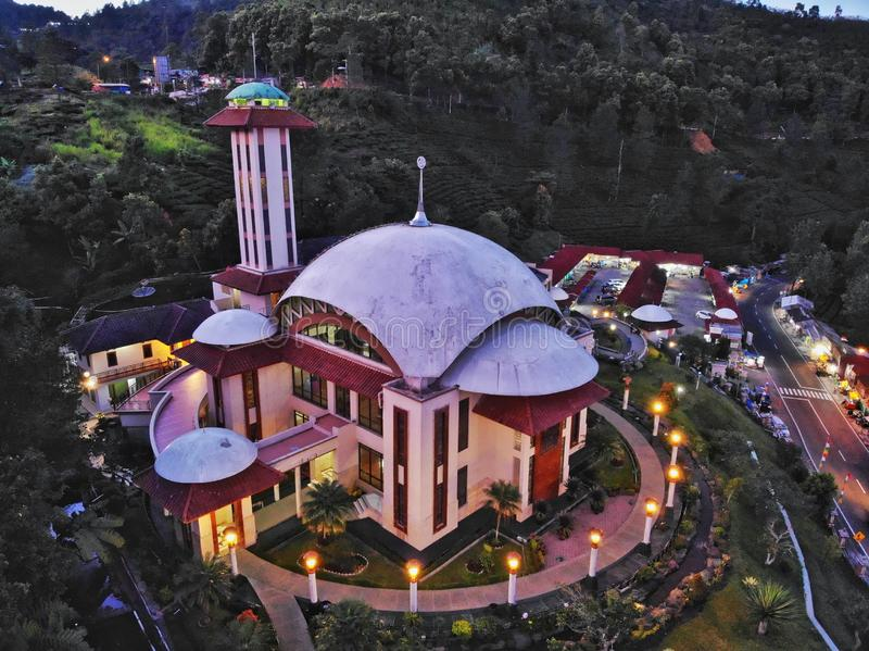 Attaa'wun Mosque at West Java - Indonesia royalty free stock photography