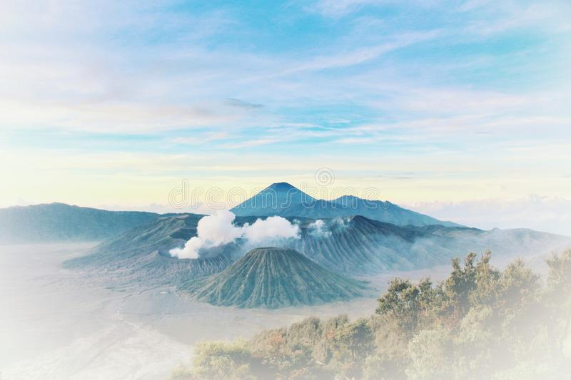 Scenic View Of Mountain Range. This picture was taken in Mount Bromo Indonesia stock image