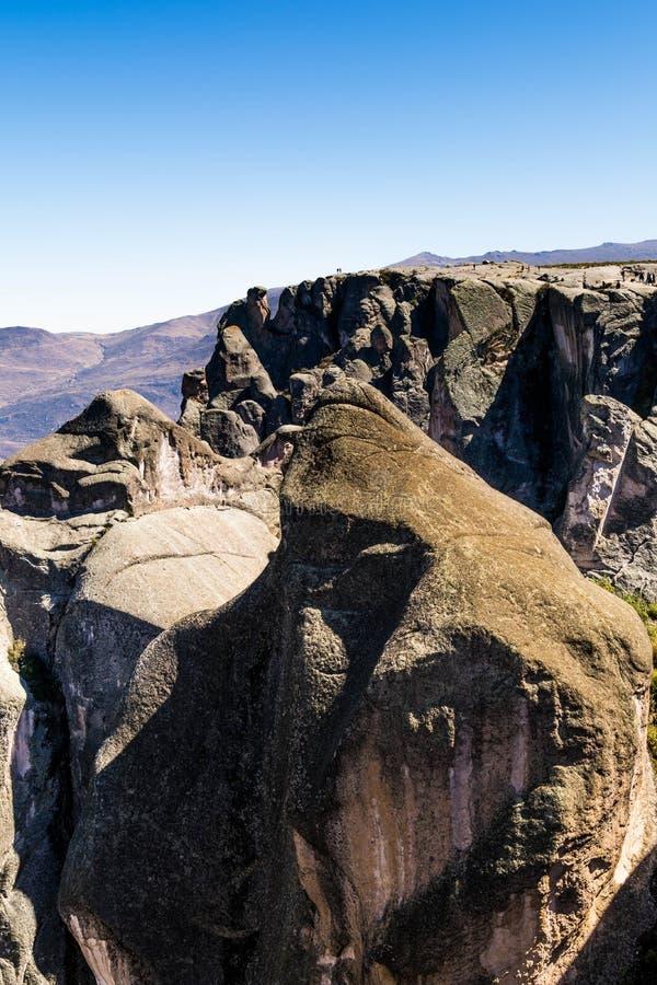 Gorila rock in Marcahuasi, Peru royalty free stock photography
