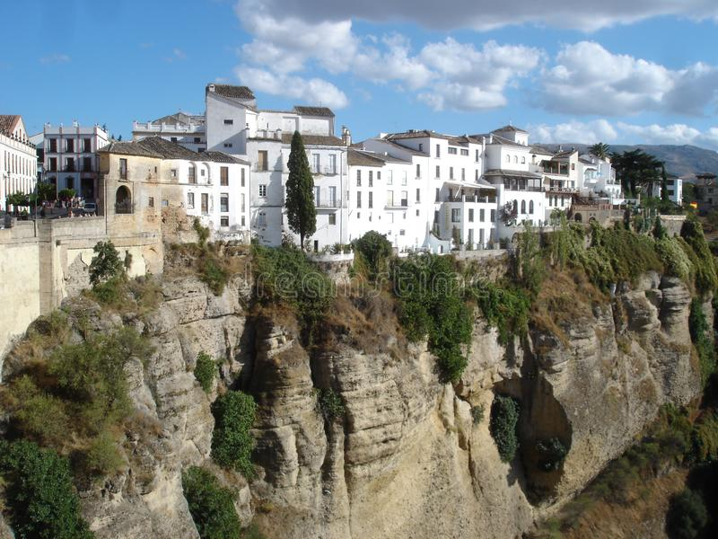 White buildings in Ronda Spain royalty free stock photo