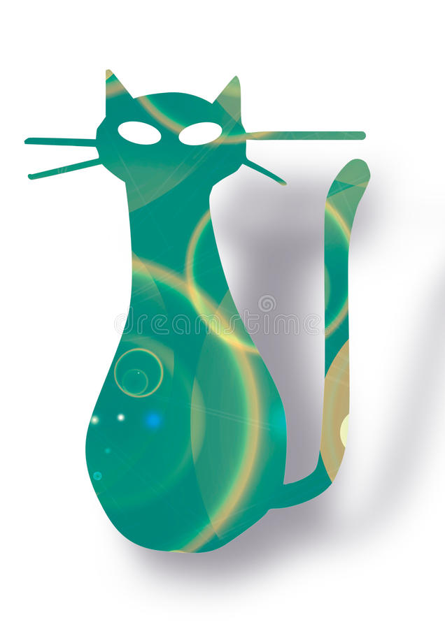 Free Picture With Rainbow Color Cat Stock Photo - 15563210
