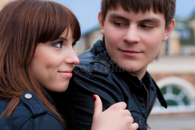 Picture Of Woman And Man (focus On Woman) Royalty Free Stock Images