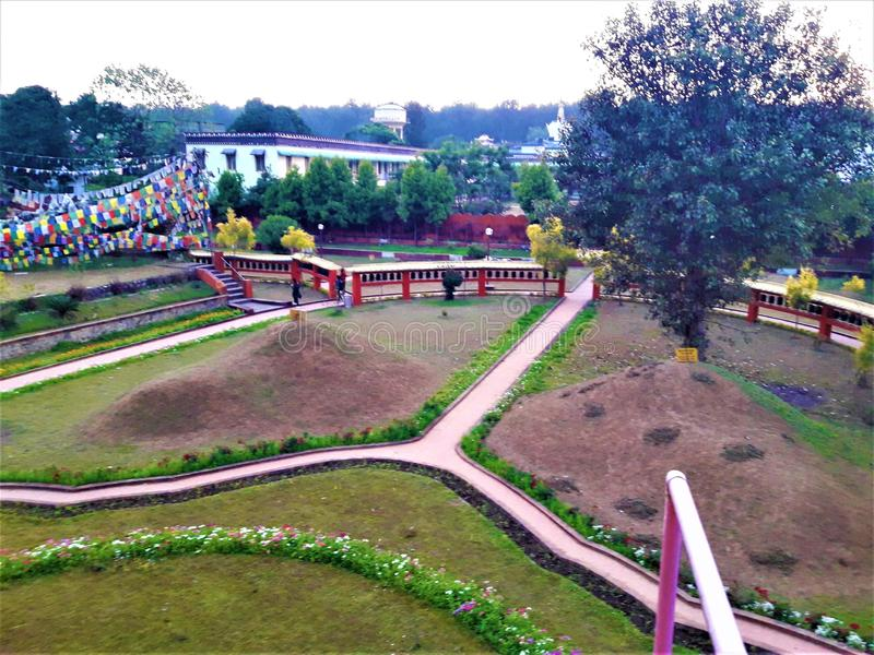 A Beautiful view of Green Garden in India. In this picture You can see A Beautiful Green Garden in India.I hope you like it royalty free stock images
