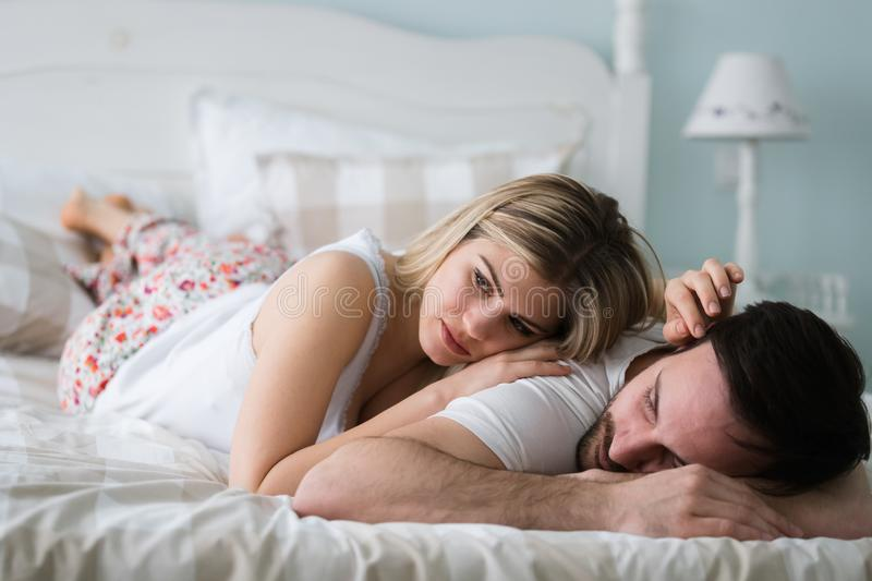 Picture of young couple having relationship problems royalty free stock photo