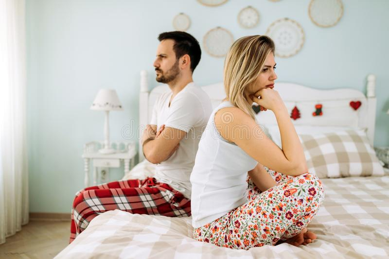 Picture of young couple having relationship problems. Crisis royalty free stock photos