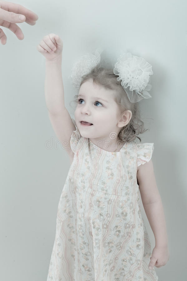 Download Picture Of Young Smiling Little Girl Stock Image - Image of attractive, little: 12250837