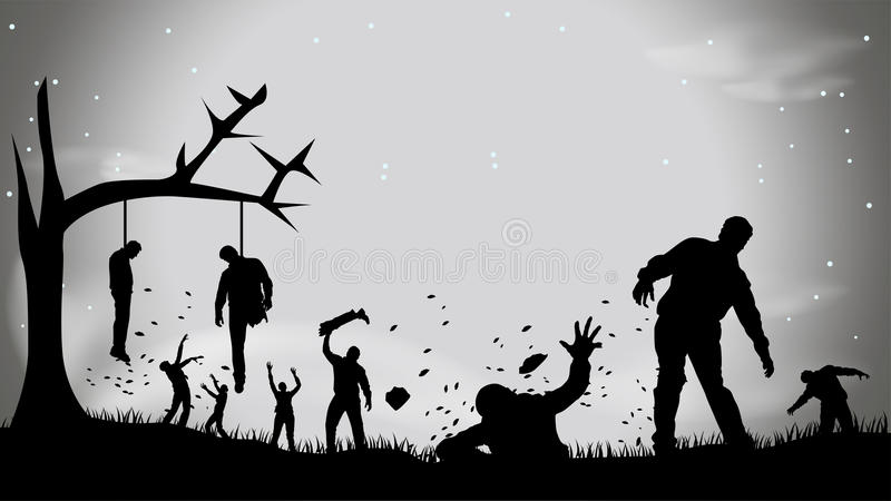 Picture of zombie party4 stock illustration