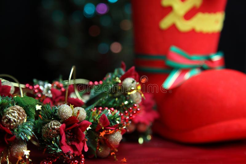 Christmas gift with illumination. Pictured christmas gift with illumination royalty free stock photo
