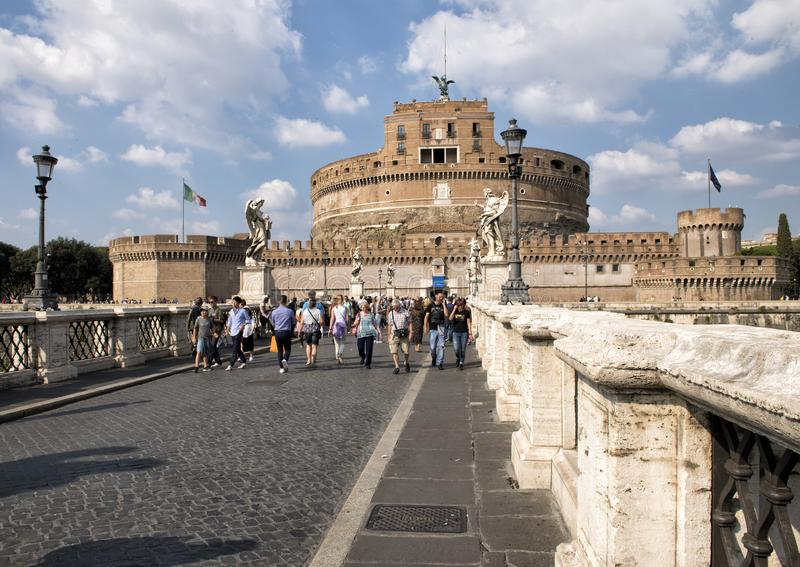 Castel Sant`Angelo in Parco Adriano, Rome, Italy stock photos