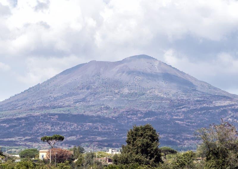 Mount Vesuvius volcano, near Scavi Di Pompei. Pictured is the Mount Vesuvius volcano, near Scavi Di Pompei. Mount Vesuvius is best known for its eruption in AD stock images