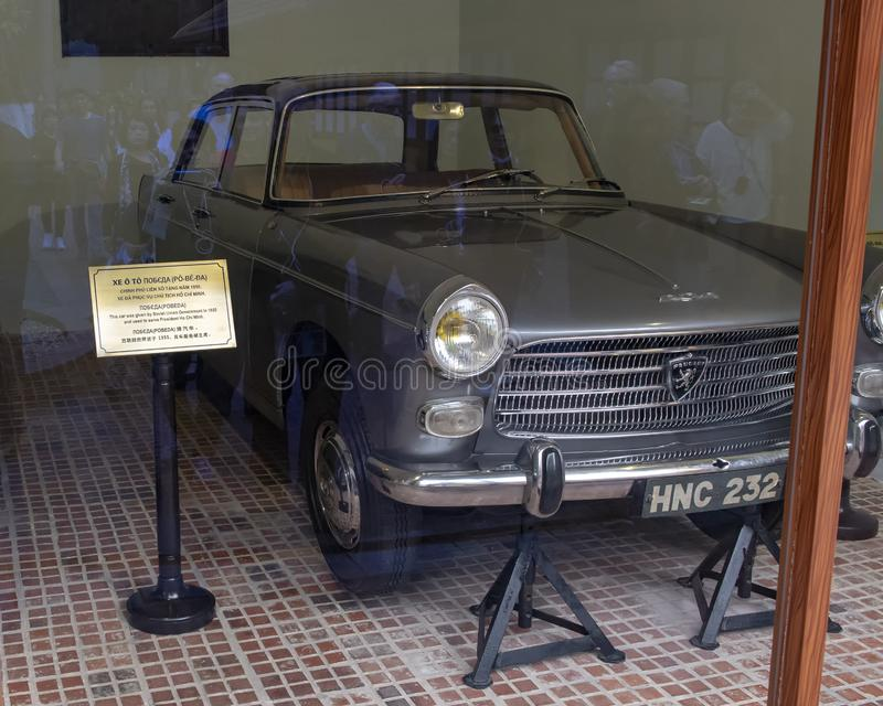 1964 Peugot 404 given to Ho Chi Minh by Vietnamese residents in New Caledonia. Pictured is a 1964 Peugot 404 given to Ho Chi Minh by Vietnamese residents in New royalty free stock photography