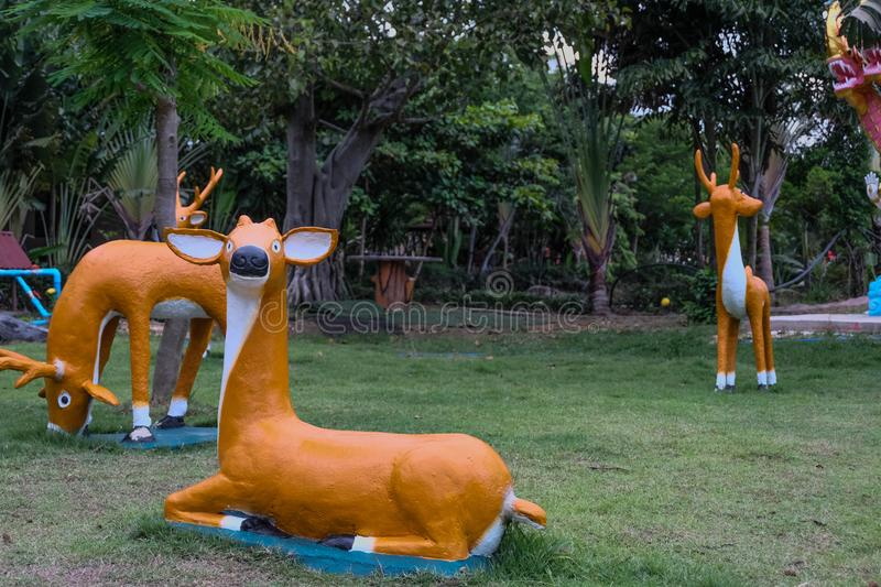 Pictured in the photo Deer statue decorative. Pictured in the photo Deer statue decorative royalty free stock images