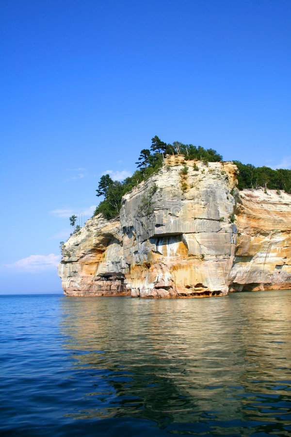 Download Pictured Rocks stock image. Image of superior, lake, minising - 3034955