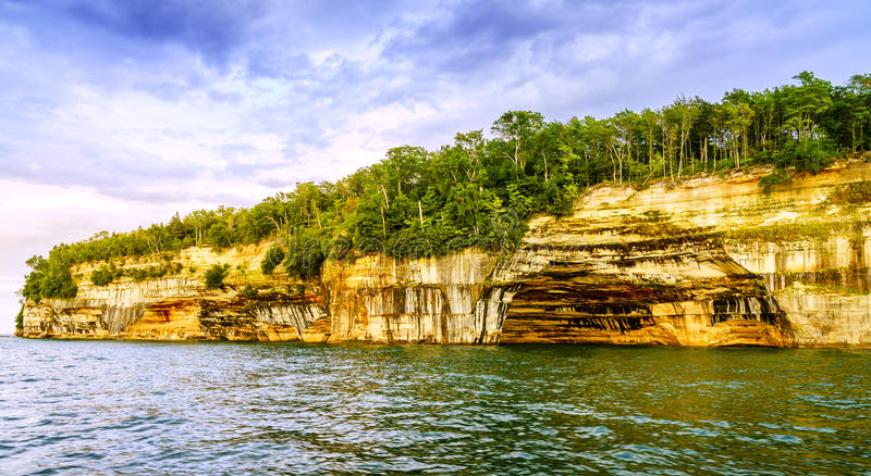 Pictured Rocks National Lakeshore stock photography
