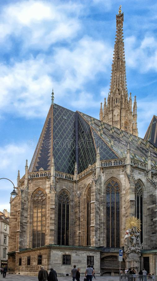 Saint Stephen`s Cathedral, Vienna, Austria royalty free stock images
